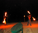 Fire show on the beach by Lantaresort.com